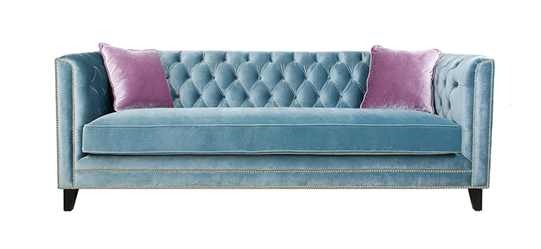 Victoria Tufted Velvet Sofa – 1010