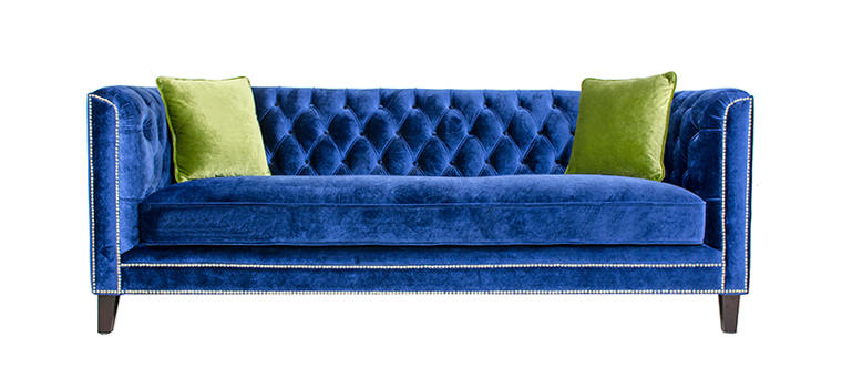 Victoria Tufted Velvet Sofa-1012
