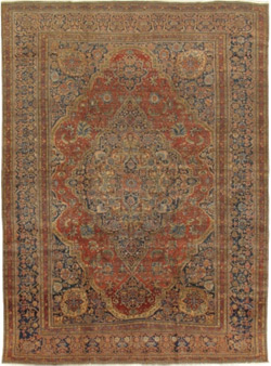 Antique Kashan Mohtasham – 23455
